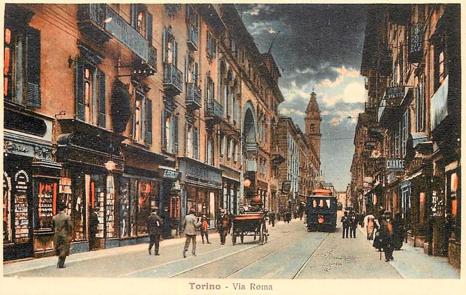 Torino Via Roma 1910