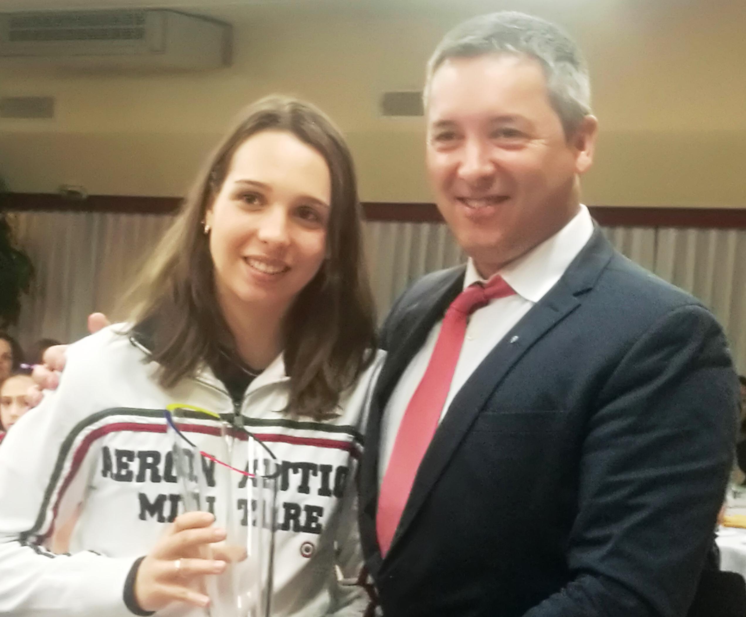 Photo of Alla schermitrice Chicca Isola il premio assoluto Panathlon 2017