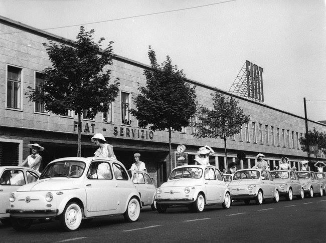 Lancio Nuova Fiat 500 4 luglio 1957 Corso Bramante
