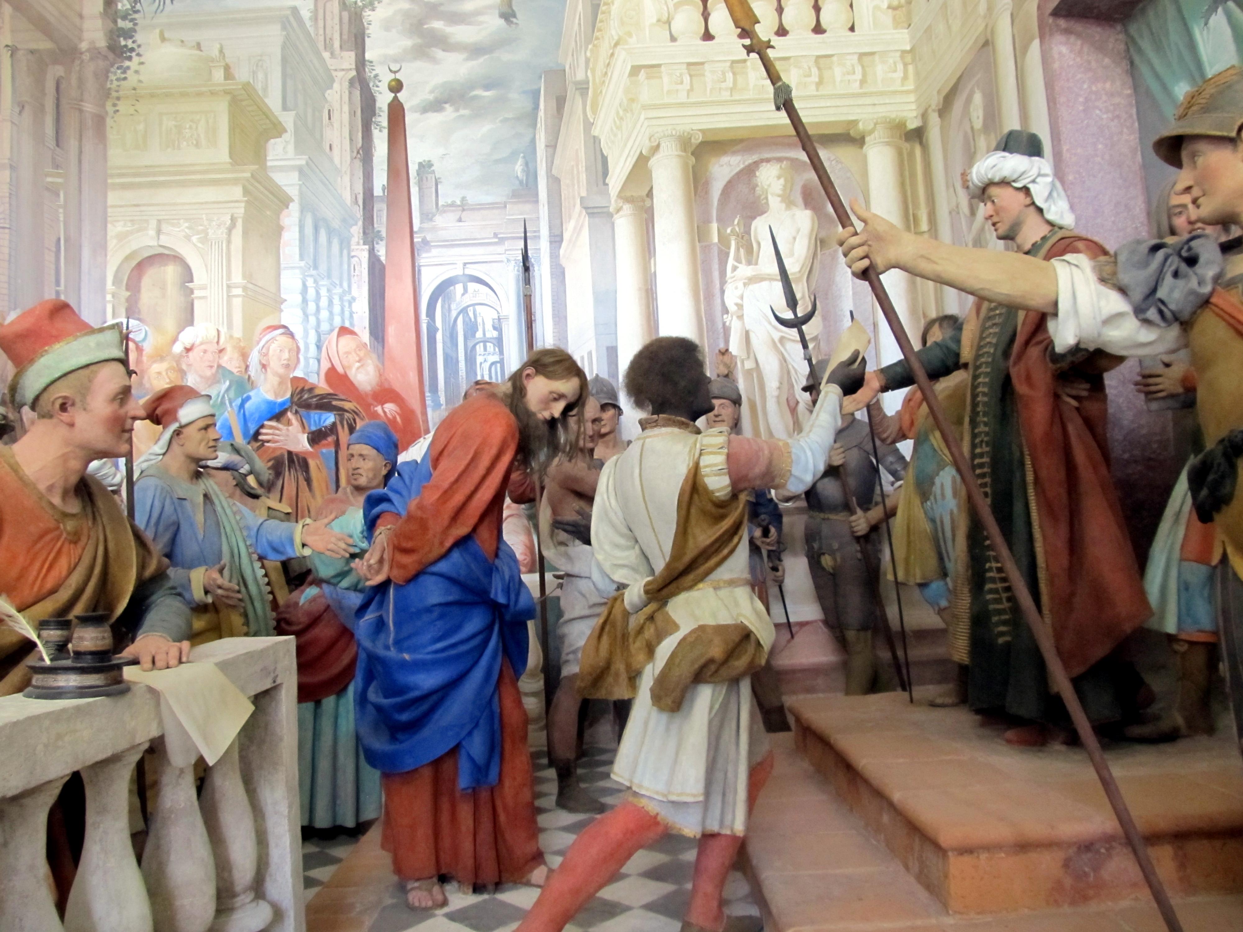 Varallo – Sacro Monte – al tribunale di Pilato