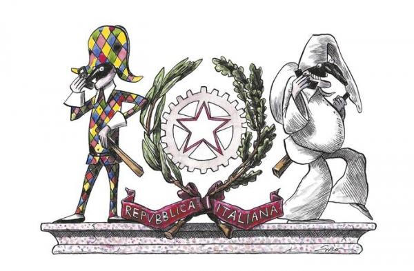 Photo of Disegni e vignette di Chiostri, Sironi, Contemori e De Angelis per una Costituzione a colori
