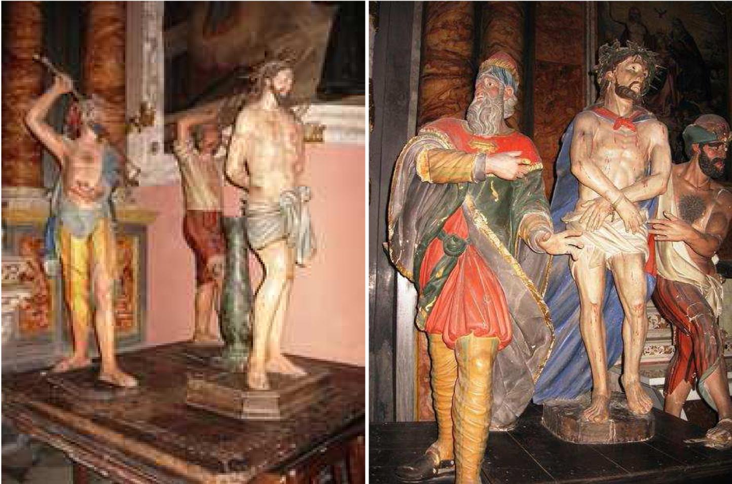 """Photo of Tornano a Cortemilia dopo il restauro i due preziosi gruppi lignei, detti """"I Giudei"""""""