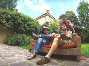 I quattro ragazzi impegnati nella Torino Dakar