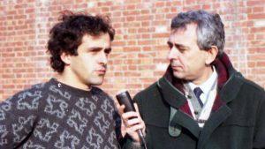 Franco Costa con Michel Platini