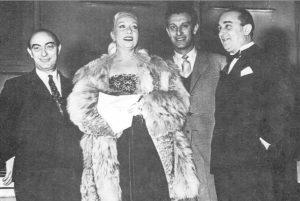 Mario Consiglio con Wanda Osiris, Nunzio Filogamo e Mario Ruccione