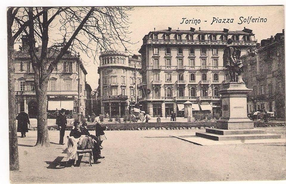 1908 – strasse' in Piazza Solferino – Lo straccivendolo