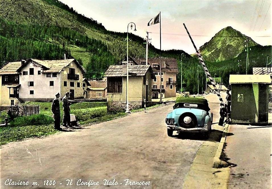 1955 – Claviere confine italo-francese