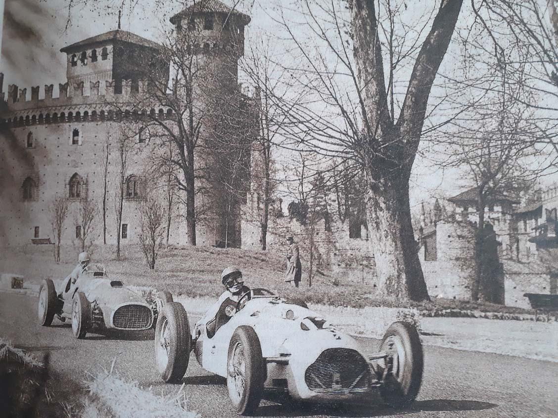 Ascari su Lancia D50 GP del Valentino F1 1955