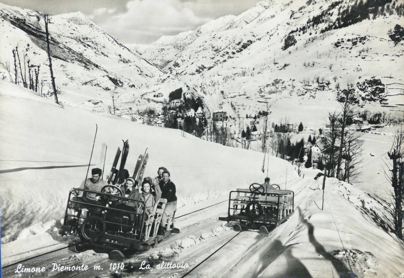 Limone Piemonte – La slittovia – 1954