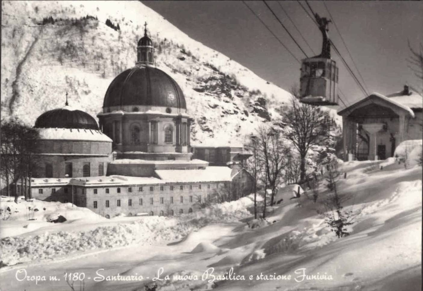 Oropa – La nuova Basilica e stazione Funivia