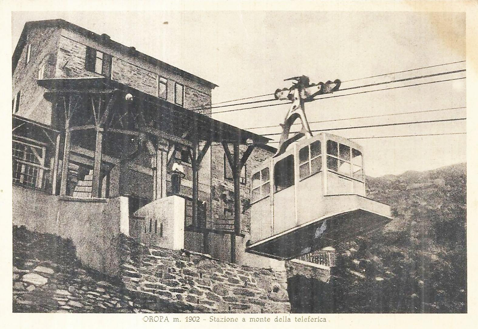 Oropa – Stazione a monte della teleferica – 1949