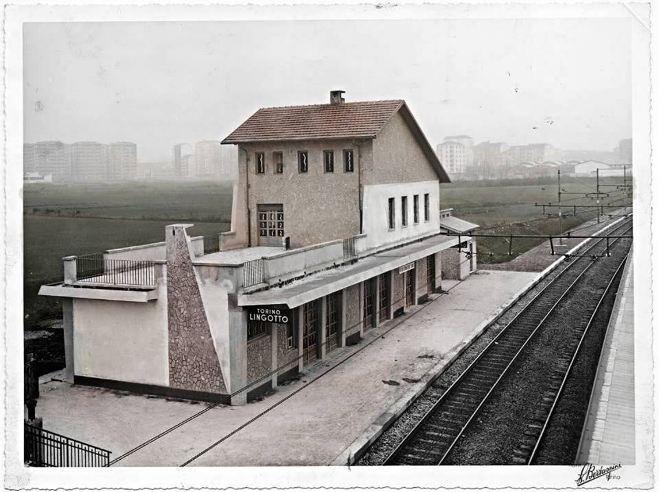 Stazione Torino Lingotto tra i prati…anno 1956…