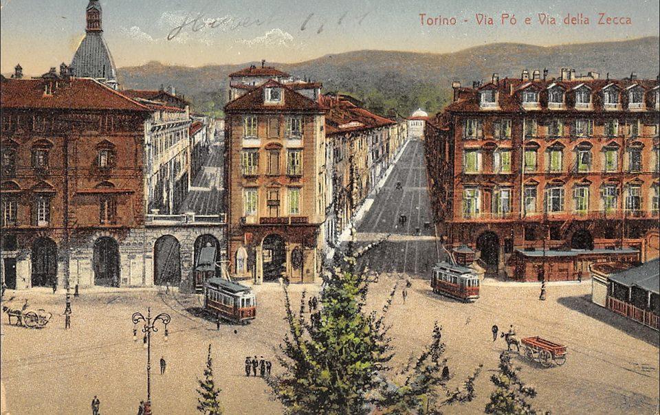 Torino – Via Po e Via della Zecca – 1911