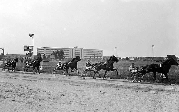 ippodromo di Mirafiori. sullo sfondo la Fiat