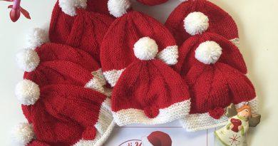"""L'associazione """"Mani di mamma"""" dona cappellini natalizi ai neonati del Mauriziano"""