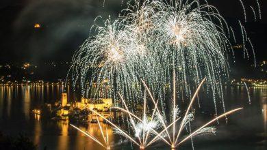 Photo of Al via sul lago d'Orta il festival dei fuochi d'artificio
