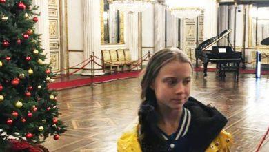 Photo of Greta Thunberg in visita ai Musei Reali di Torino