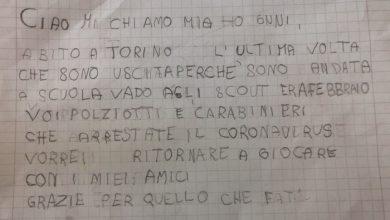 Photo of Bimba di Torino scrive alla polizia: arrestate il Coronavirus