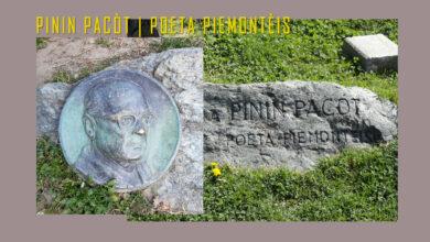 Photo of Quella roccia dei Giardini di Piazza Cavour dedicata a Pinin Pacòt, poeta piemontese…